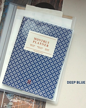 Monthly Planner Deep Blue A6