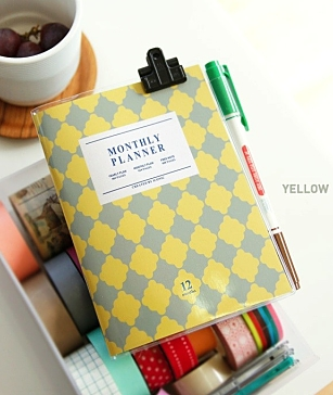 Monthly Planner Yellow A6