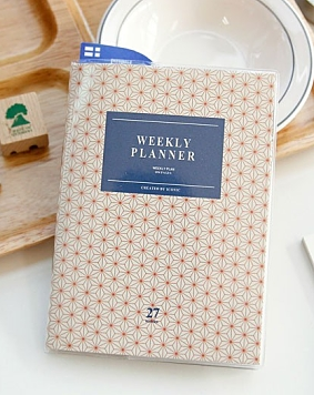 A6 Weekly Planner Red