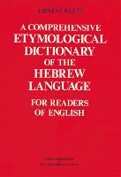 Comprehensive Etymological Dictionary...