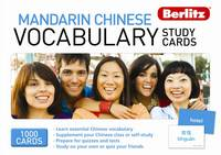 Berlitz Mandarin vocabulary study cards