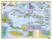 Macmillan Wall Map of the Caribbean