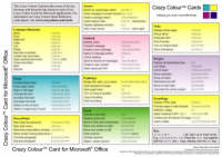 Crazy Colour Quick Reference Card for Microsoft Office: Crazy Colour Card for Microsoft Office