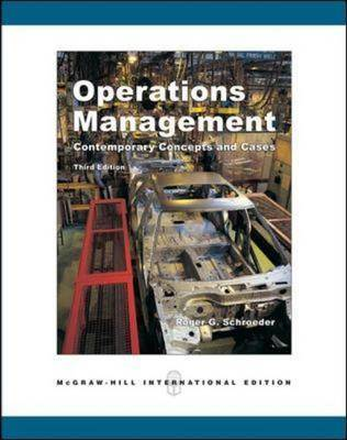 Operations Management: Contemporary Concepts and Cases: With Student CD-ROM
