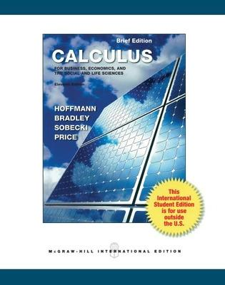 Calculus for Business, Economics and the Social and Life Sciences, Brief Version