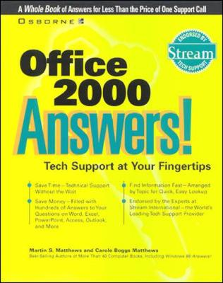Office 2000 Answers!: Certified Tech Support