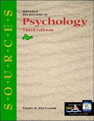 Notable Selections in Psychology