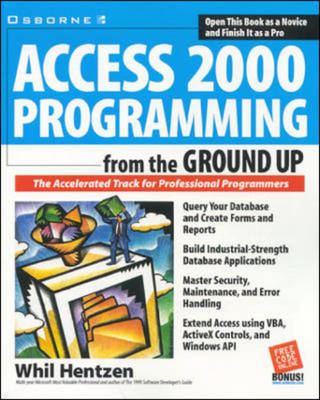 Access 2000 Programming from the Ground Up