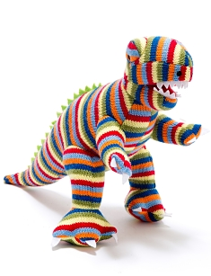 Knitted Mini T-Rex Striped