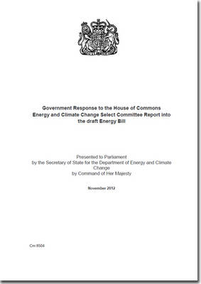 Government Response to the House of Commons Energy and Climate Change Select Committee Report into the Draft Energy Bill
