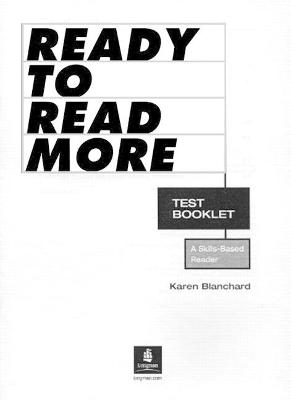 Ready to Read More, Test Booklet