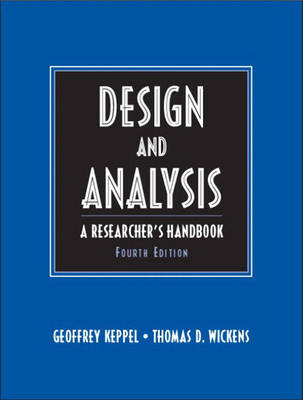 Design and Analysis: A Researcher's Handbook: United States Edition
