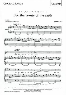 For the Beauty of the Earth: SS (or SA) Vocal Score