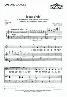 Jesus Child: Unison Vocal Score