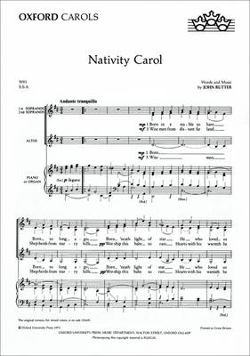 Nativity Carol: SSA Vocal Score