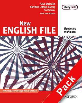 New English File: Elementary: Workbook with key and MultiROM Pack: Six-level general English course for adults