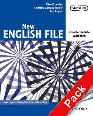 New English File: Pre-intermediate: Workbook with MultiROM Pack: Six-level general English course for adults