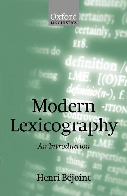 Modern Lexicography: An Introduction