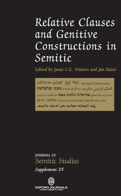 Relative Clauses and Genitive Construction in Semitic