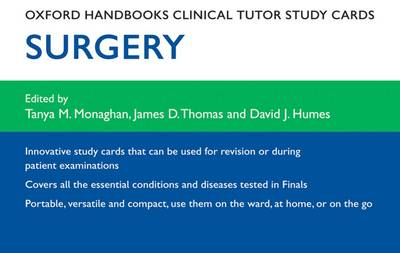 Oxford Handbooks Clinical Tutor Study Cards: Surgery