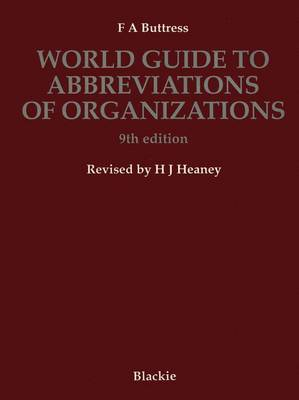 World Guide to Abbreviations of Organizations