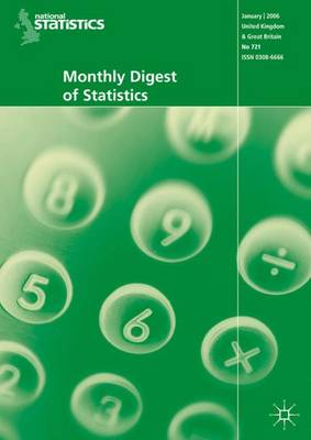 Monthly Digest of Statistics Vol 739, July 2007