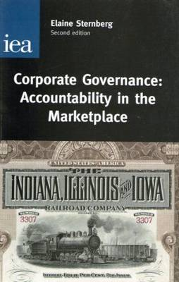 Corporate Governance: Accountability in the Marketplace