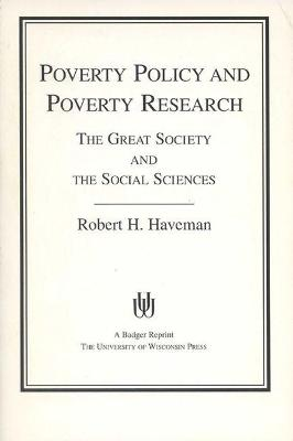 Poverty Policy And Poverty Research