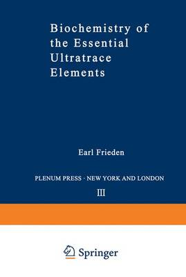 Biochemistry of the Essential Ultratrace Elements