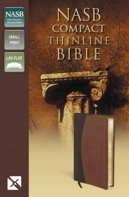 NASB, Thinline Bible, Compact, Imitation Leather, Brown, Red Letter Edition