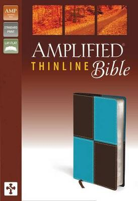 Amplified Thinline Bible, Imitation Leather, Blue/Brown