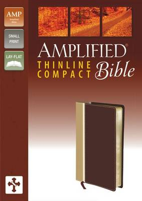 Amplified Thinline Bible, Compact, Imitation Leather, Tan/Burgundy
