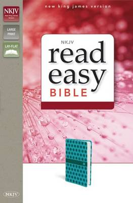 NKJV, ReadEasy Bible, Large Print, Imitation Leather, Blue