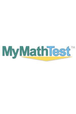 MyMathTest Online Placement and Readiness Student Access Code Card