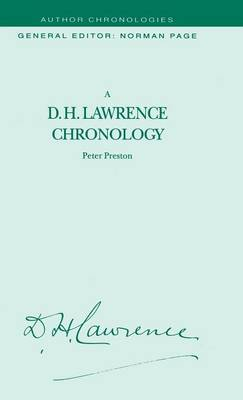 A D.H. Lawrence Chronology