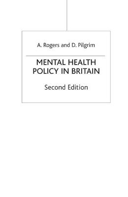 Mental Health Policy in Britain