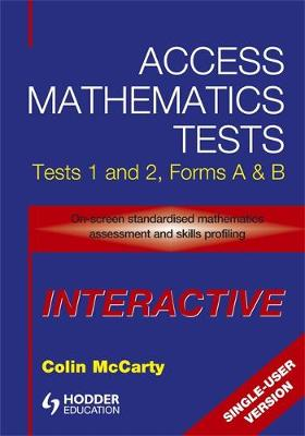 Access Mathematics Tests Interactive (AMTi) 1 & 2 Single-User CD-ROM