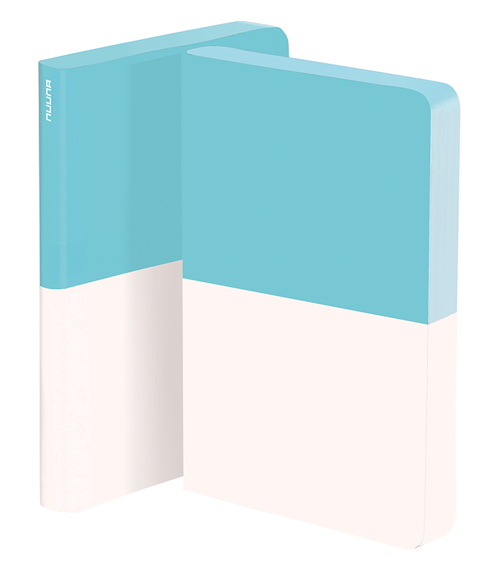Dipped White & Turquoise Notebook