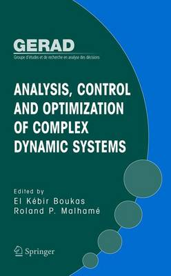 Analysis, Control and Optimization of Complex Dynamic Systems