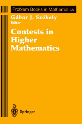 Contests in Higher Mathematics: Miklos Schweitzer Competitions 1962-1991