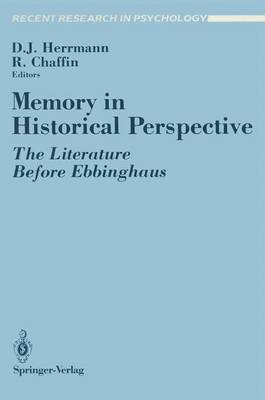 Memory in Historical Perspective: The Literature Before Ebbinghaus