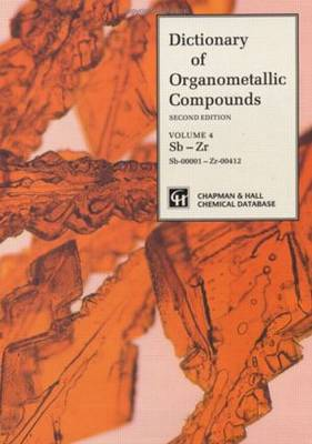 Dictionary of Organometallic Compounds: Vol 1: Ag-Eu