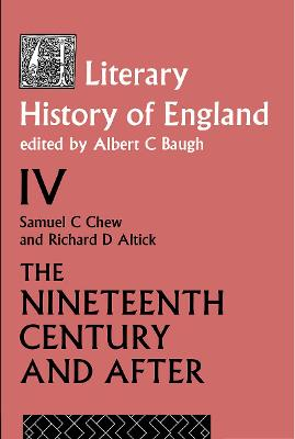 A Literary History of England: Volume 4: The Nineteenth Century and After, 1789-1939