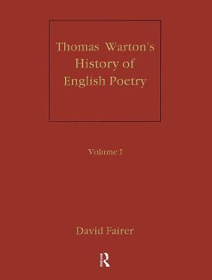 The Warton's History of English Poetry