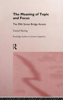 The Meaning of Topic and Focus: 59th Bridge Street Accent
