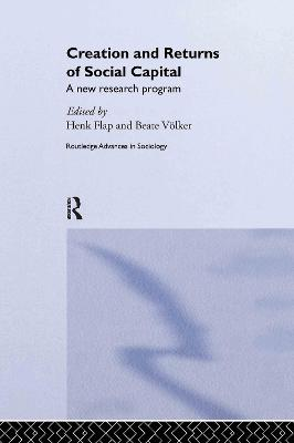 Creation and Returns of Social Capital: A New Research Program