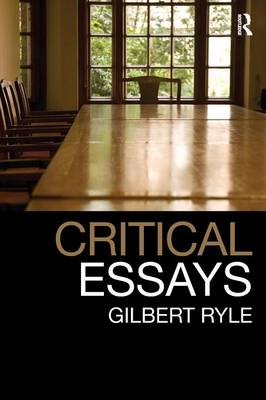 Critical Essays: Collected Papers: Volume 1
