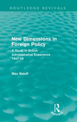 New Dimensions in Foreign Policy