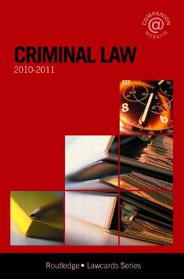 Criminal Lawcards: 2010-2011