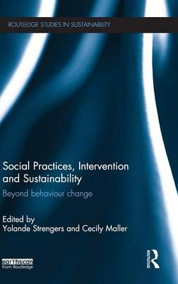 Social Practices, Intervention and Sustainability: Beyond behaviour change